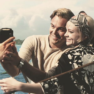 The Great Gatsby selfie