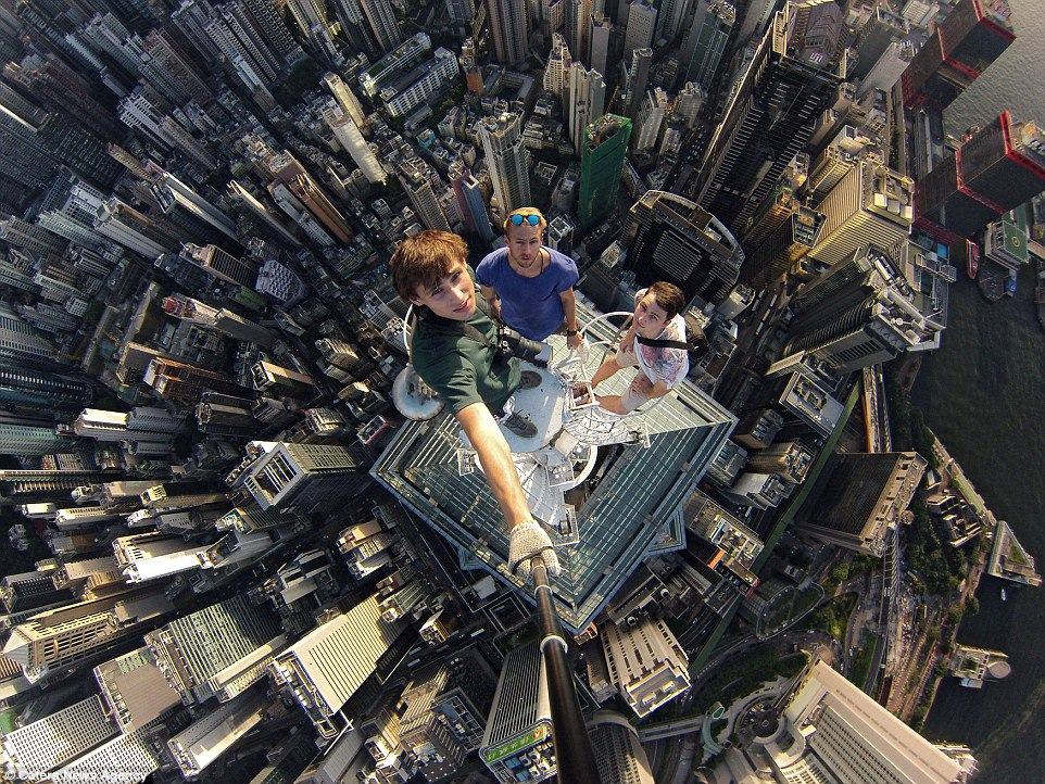 Nice It Seems That Russians Are Ahead Of The Rest Regarding Roofing Selfies.  Alexander Remnev And His Friends Took This Picture In Hong Kong While They  Were ...