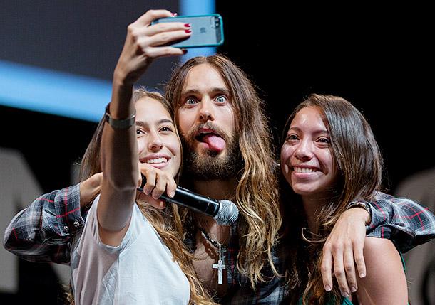 Jared Leto selfie