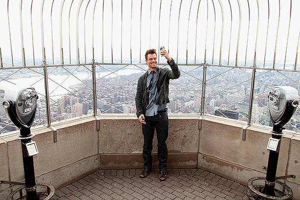 Josh Duhamel selfie on Empire State Building