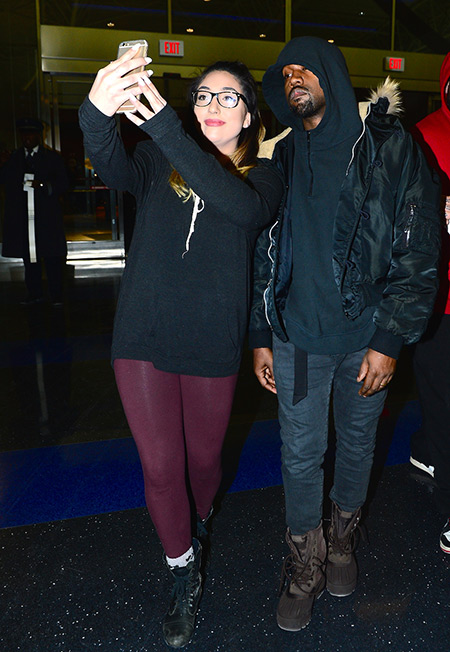 Kanye West selfie with a fan