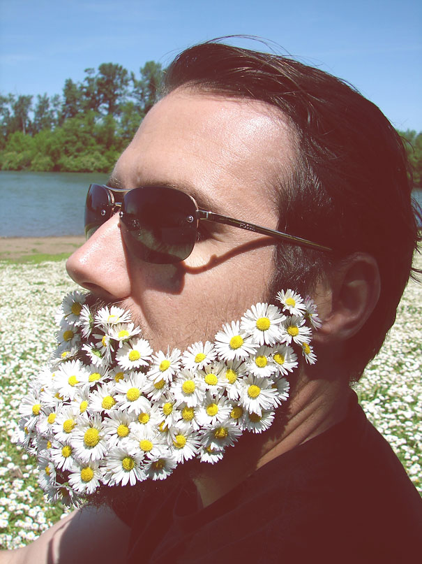 flower-beards selfie