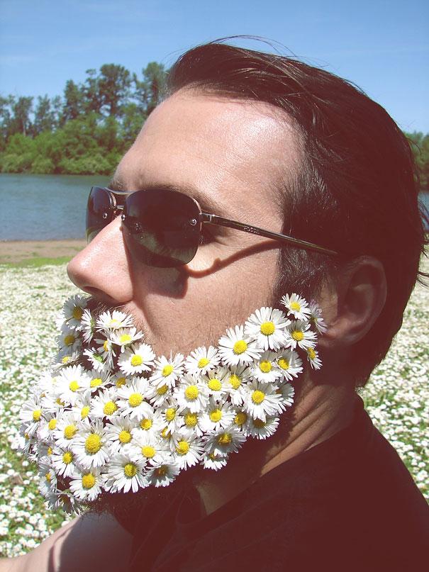 flower-beards selfie