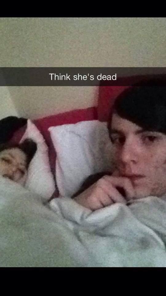 probably dead selfie