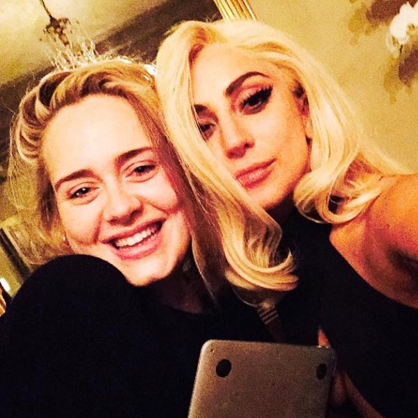 lady gaga selfie Adele selfies