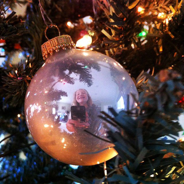 Christmas ball selfie