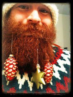 beard christmas selfie