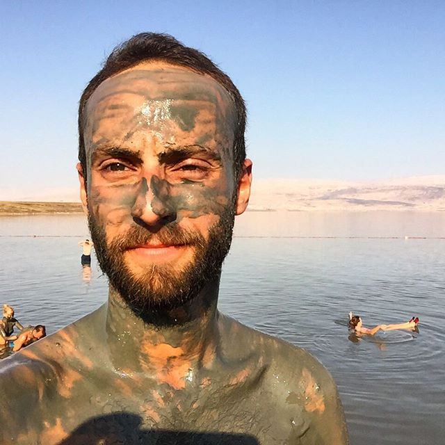 Mineral Beach, the Dead Sea selfie