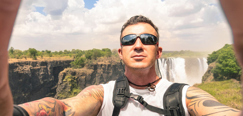 Victoria Falls most wonderful places for selfie