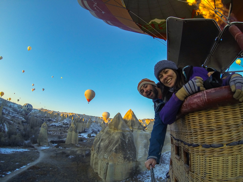 Hot Air Balloon Ride selfie