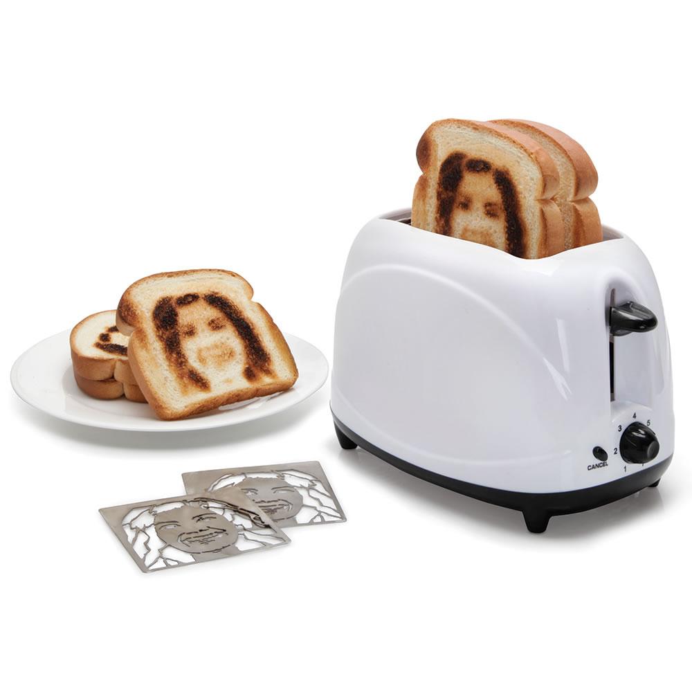 unusual selfie gadgets selfie toaster