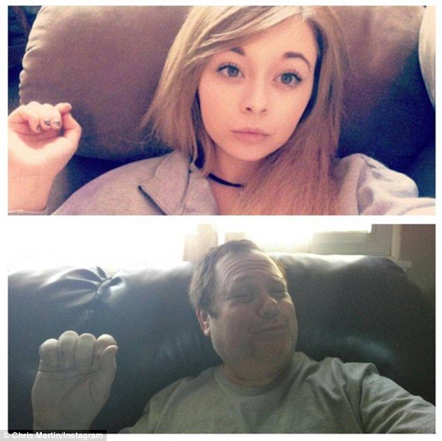 parents copying their children selfie