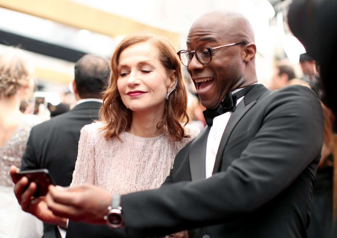 The Oscar selfies celebrities Isabelle Huppert and Barry Jenkins