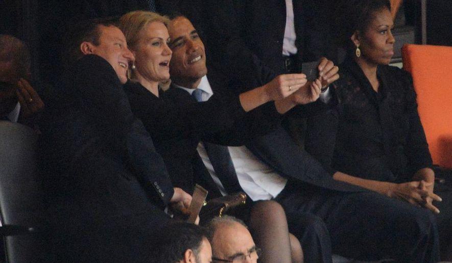 former US President Barack Obama selfie