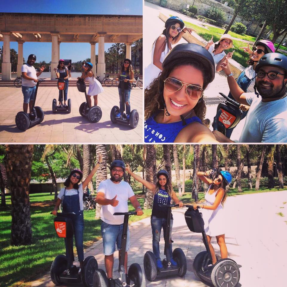 Take a selfie while segway tour in Turia park Valencia
