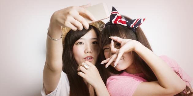 asian selfie