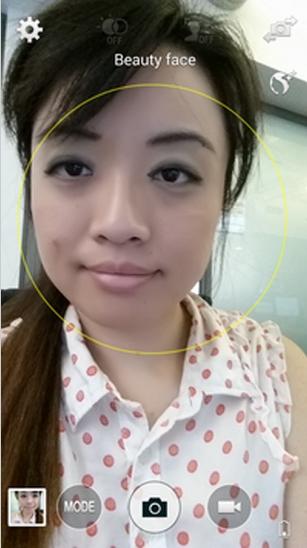 beauty retouche for selfie