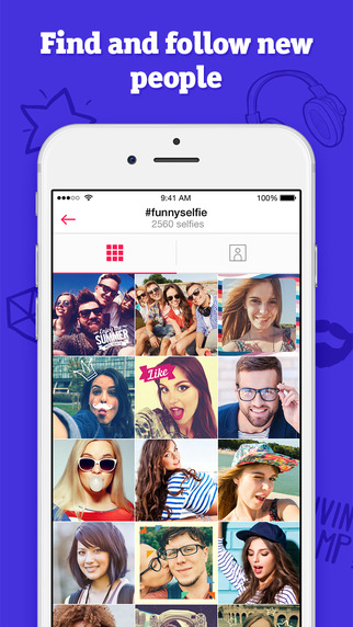 Selfie network with manual camera & photo editor