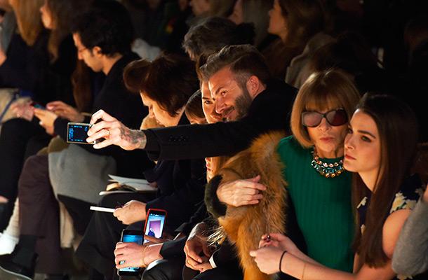 David Beckham selfie with his kids