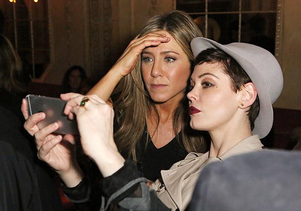 Jennifer Aniston and Rose McGowan