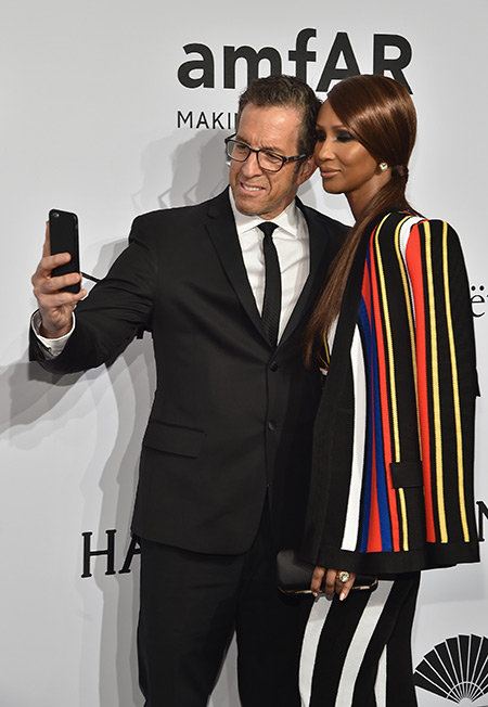Kenneth Cole and Iman: selfie