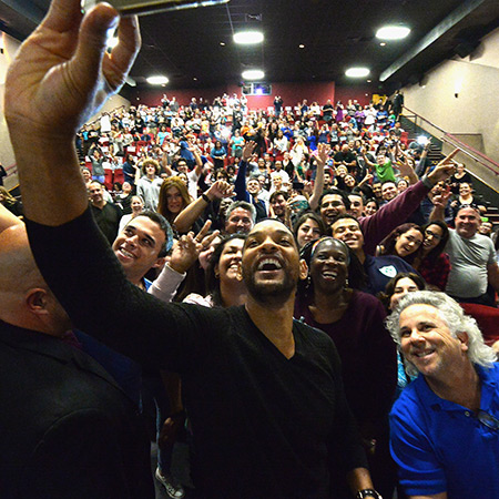 Will Smith selfie with fans