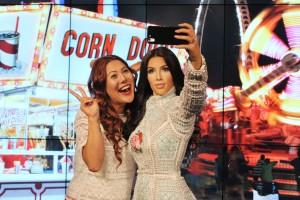 selfie with Kardashian