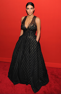 black dress and Kim