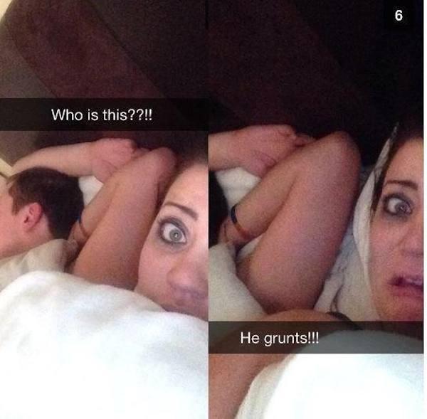 grunting lover selfie
