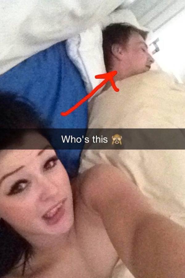 stranger in bed selfie