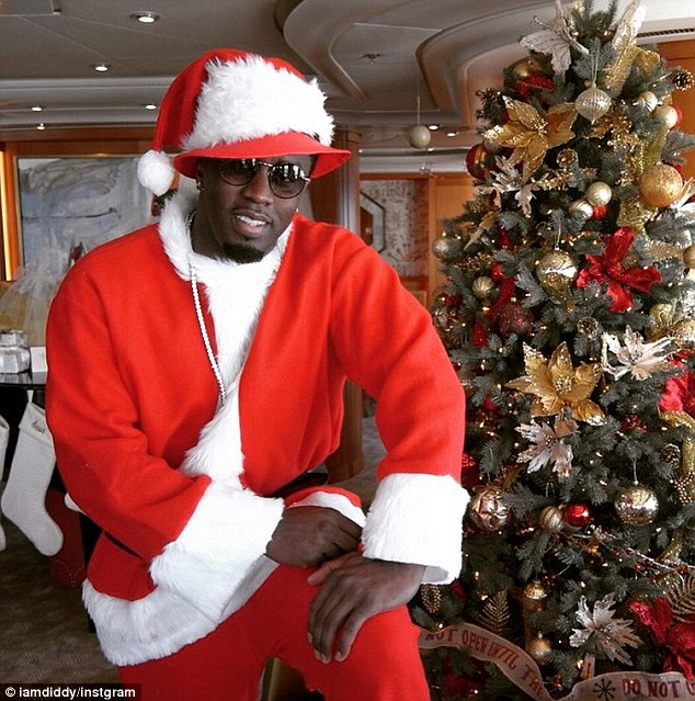 P. Diddy christmas selfie