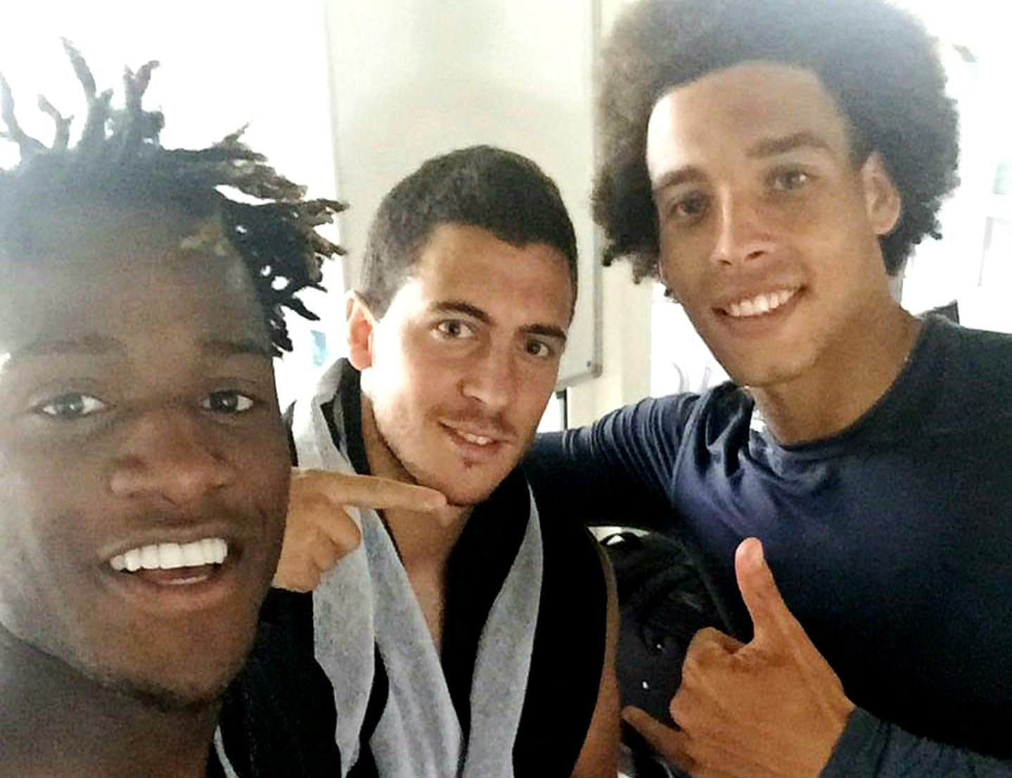 Here's a selfie of Belgian players taken after training.