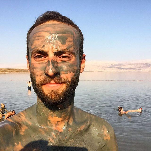 Mineral Beach, the Dead Sea selfie
