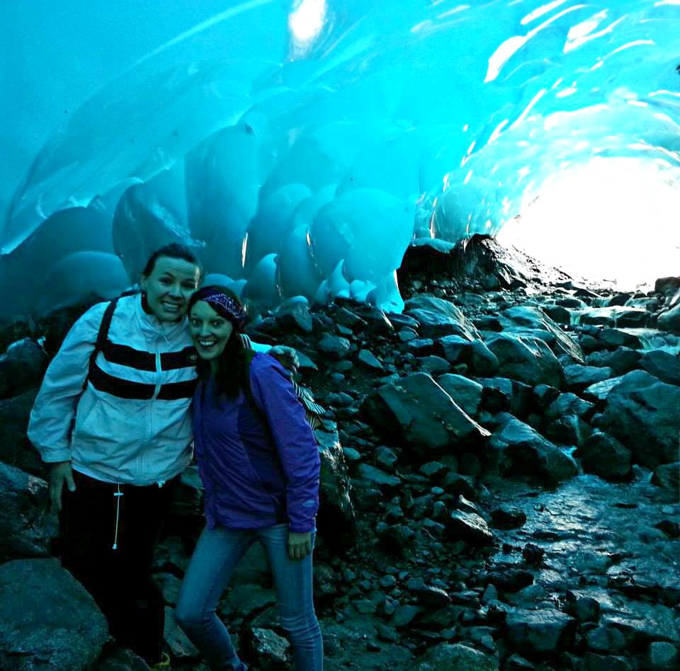 Mendenhall Ice Caves in Juneau selfie