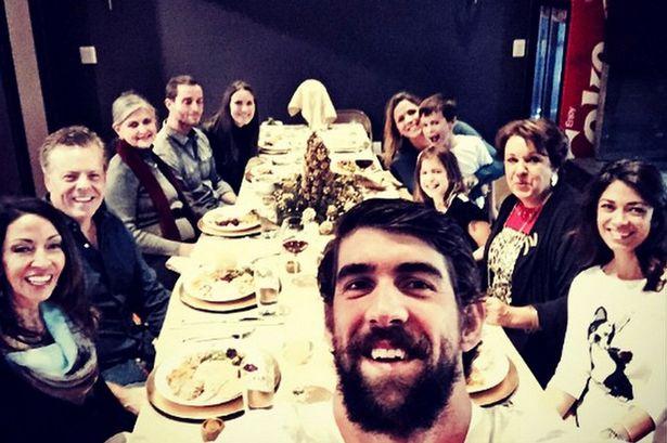 Celebrity Selfie Thanksgiving Dinner