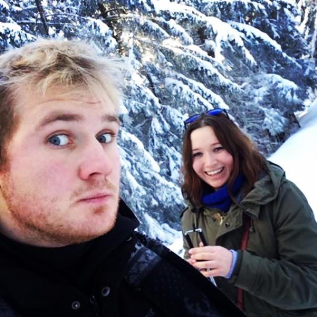 taking winter selfies