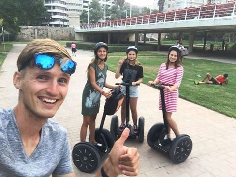 Valencia segwayanyway city tour selfie