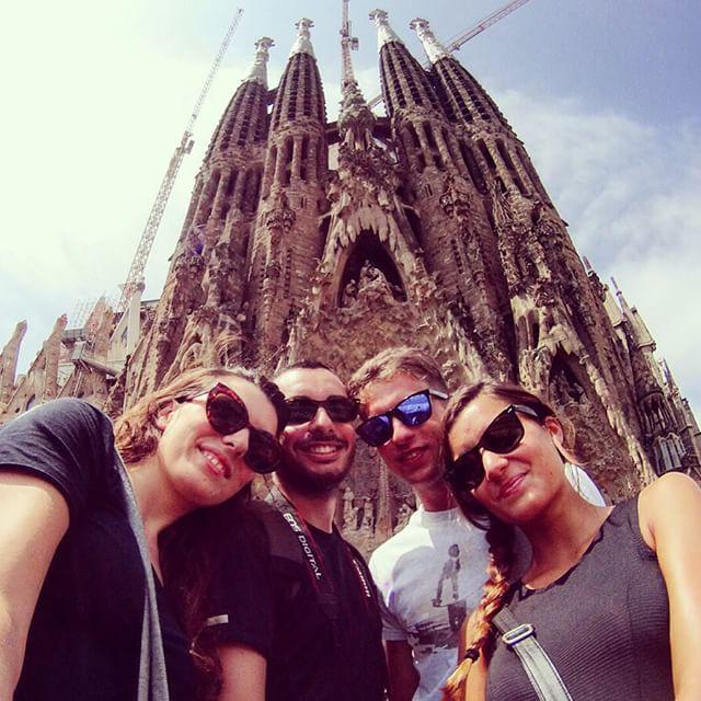 popular places for selfies sagrada familia barcelona spain